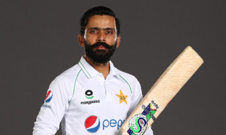 Fawad Alam completed his century against New Zealand
