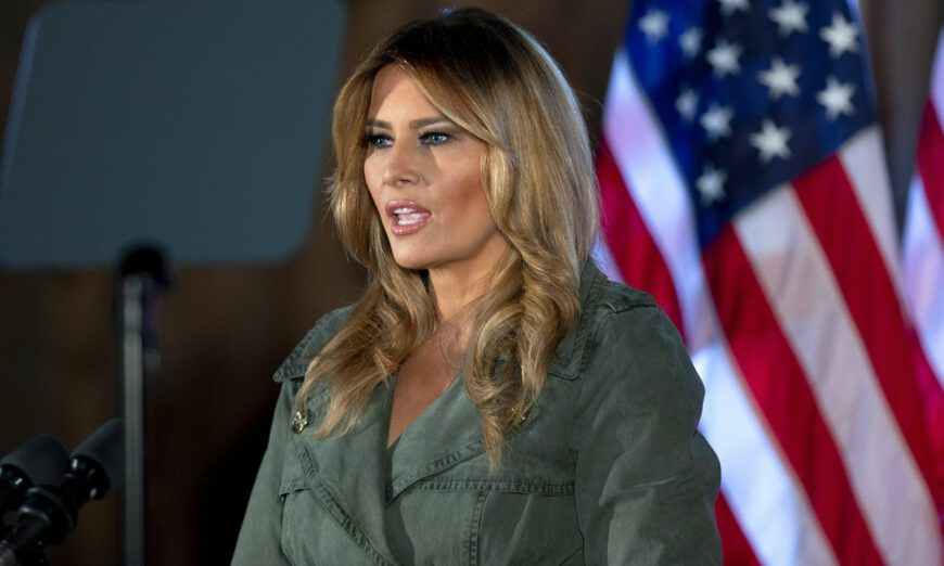 Melania Trump tells Americans 'violence is never the answer'