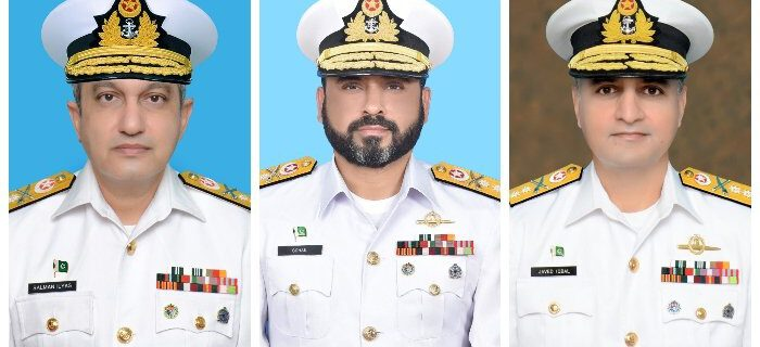 The Pakistan Navy (PN) has announced promotion of three commodores to the rank of rear admiral.
