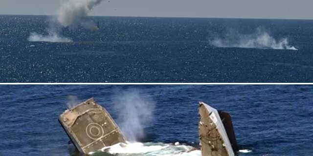 The Pakistan Navy successfully fired anti-ship missiles and torpedoes from submarines in the Arabian Sea.